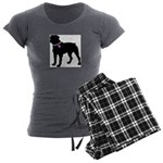 Rottweiler Breast Cancer Supp Women's Charcoal Paj