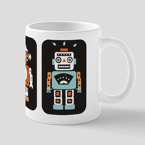 Vintage Tin Robots Mug
