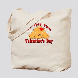 First Valentine's Day Tote Bag