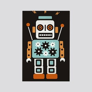 Vintage Tin Robots Rectangle Magnet