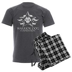 White Logo Men's Charcoal Pajamas