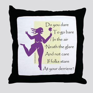 Bare Question - Throw Pillow