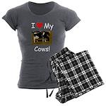Love My Cows Women's Charcoal Pajamas