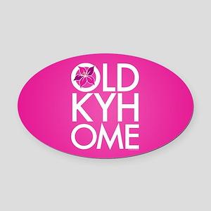Oaks Pink Old KY Home Oval Car Magnet