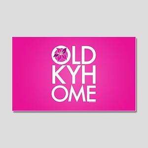 Oaks Pink Old KY Home Car Magnet 20 x 12