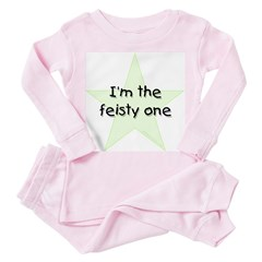 I'm the feisty one Toddler Pink Pajamas