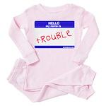 trouble Toddler Pink Pajamas