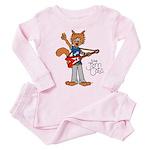 The Jam Cats Toddler Pink Pajamas
