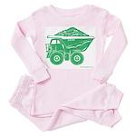 Dump Truck Toddler Pink Pajamas