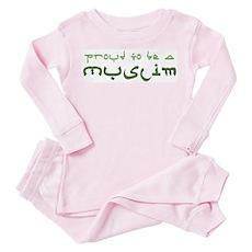Proud To Be A Muslim Toddler Pink Pajamas
