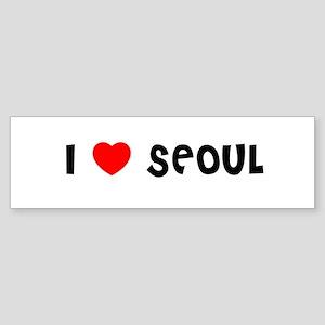 I LOVE SEOUL Bumper Sticker