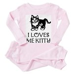 I LOVES ME KITTY - Baby / Toddler Pink Pajamas
