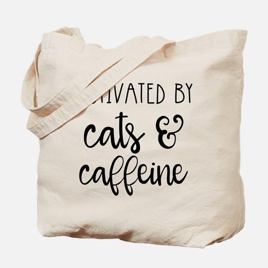 Motivated by Cats and Caffeine Tote Bag