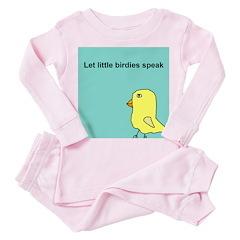 Let little birdies speak Toddler Pink Pajamas
