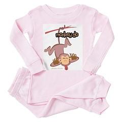 monkey do Toddler Pink Pajamas