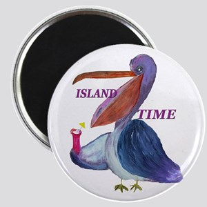 Island Time Pelican Magnet