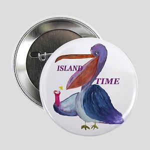 "Island Time Pelican 2.25"" Button"