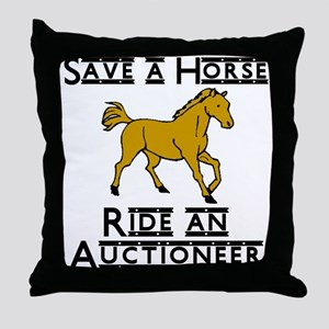 Auctioneer Throw Pillow