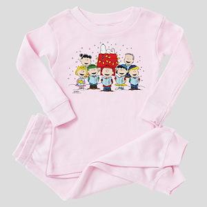 Peanuts Gang Christmas Toddler Pink Pajamas