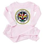 USS JOHN F. KENNEDY Toddler Pink Pajamas
