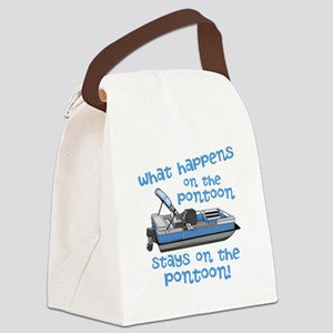 On The Pontoon Canvas Lunch Bag