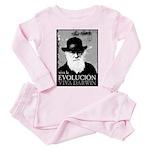 Viva Darwin Evolucion Toddler Pink Pajamas