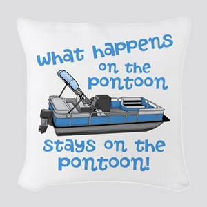 On The Pontoon Woven Throw Pillow