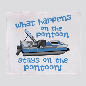 On The Pontoon Throw Blanket