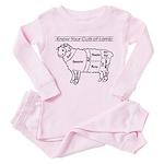 Know Your Cuts of Lamb Toddler Pink Pajamas