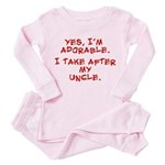 adorable like my uncle Toddler Pink Pajamas