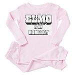 ELMO Is My Homeboy -Baby/Toddler Pink Pajamas