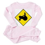 Tractor Crossing Sign - Toddler Pink Pajamas