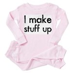 I Make Stuff Up Toddler Pink Pajamas