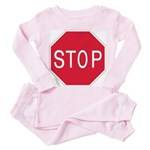 Stop Sign - Toddler Pink Pajamas