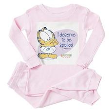 Spoiled Baby Garfield Toddler Pink Pajamas