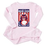 Obey the Maine Coon Cat! Baby/Toddler Pink Pajamas