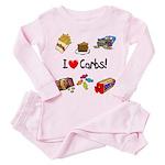I Love Carbs Toddler Pink Pajamas