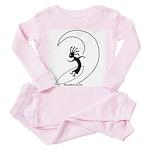 Kokopelli Surfer Toddler Pink Pajamas