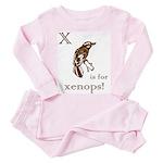 Letter X Toddler Pink Pajamas