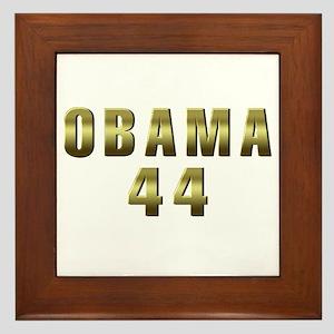 Obama 44 Framed Tile