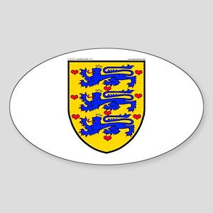 Denmark: Heraldic Oval Sticker