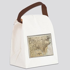 Vintage Map of Cambridge Massachu Canvas Lunch Bag