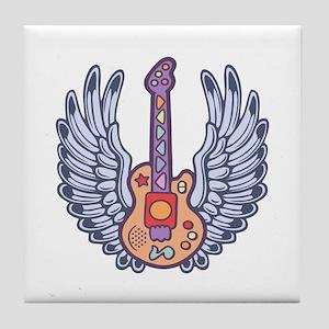 Kidling Wing Guitar Tile Coaster