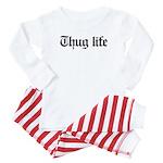 thug life, gangster, baby, g, thug Baby Pajamas