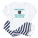 Can't sleep, evil robots Baby Pajamas
