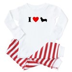 I Heart Pembroke Baby Pajamas