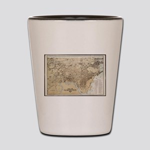 Vintage Map of Cambridge Massachusetts Shot Glass