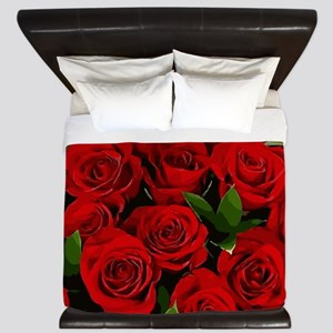 Red Roses King Duvet