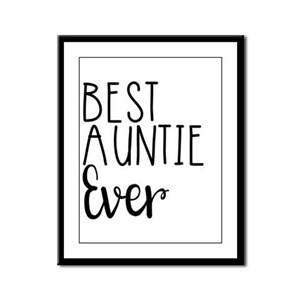 Best Auntie Ever Framed Panel Print