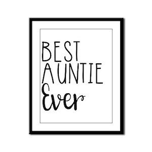 Best Auntie Ever Framed Panel Print
